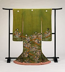 Furisode with Plank Bridges (Yatsuhashi), Irises, and Swallows LACMA M.90.8.jpg