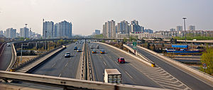 G6 expressway from offramp to North Fifth Ring Road, Beijing.jpg