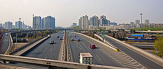 G6 Beijing–Lhasa Expressway - G6 Expressway at the interchange with the Fifth Ring Road in northern Beijing.