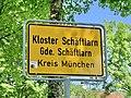 GER — BY — Lkr. München — Gemeinde Schäftlarn — Kloster Schäftlarn (Ortstafel).JPG