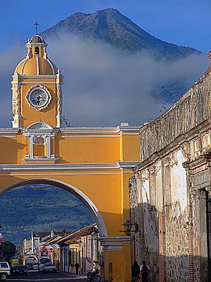 Antigua Guatemala - Santa Catalina and Volcan de Agua in June 2005