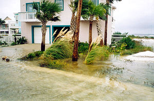 Hurricane Earl (1998) - Flooding in Navarre Beach, Florida