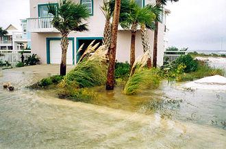 Hurricane Earl (1998) - Flooding in Navarre Beach, Florida