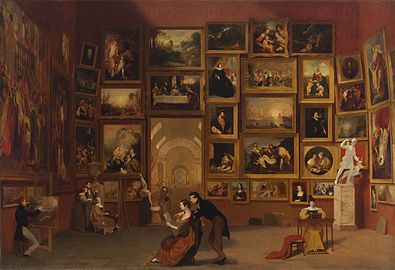 Gallery of the Louvre 1831-33 Samuel Morse