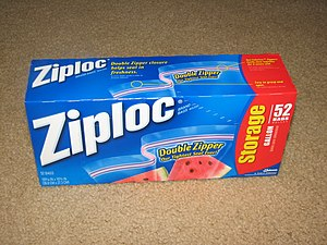 Ziploc - Box of 1 US gallon (3.7 L) Ziploc bags