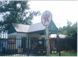 Buffalo Gap Historic Village - Historic gasoline station at Buffalo Gap