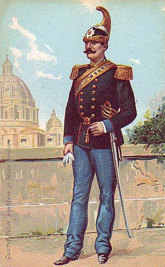 Noble Guard (Vatican) - Noble Guard in service uniform