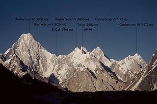 Gasherbrum V Mountain in Gilgit-Baltistan, Pakistan