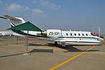 Gates Learjet 35A 'ZS-IGP' (16712936789).jpg