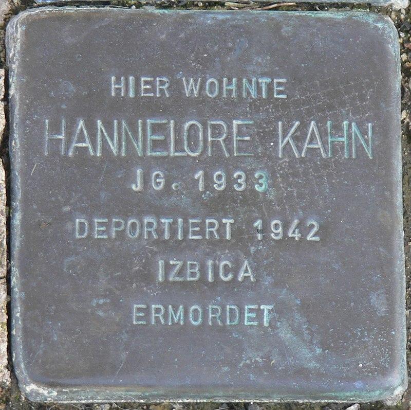 Gaukönigshofen Stolperstein Kahn, Hannelore.jpg
