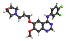 Gefitinib 3D ball-and-stick 3UG2.png