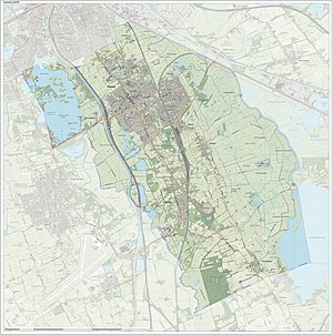 Haren, Groningen - Dutch Topographic map of Haren, June 2015
