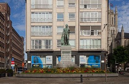 Gent, standbeeld Lieven Bauwens in straatzicht IMG 0642 2021-08-15 10.06.jpg