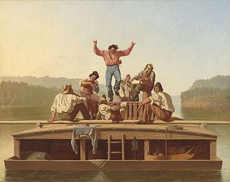 George Caleb Bingham - Jolly Flatboatmen, (painted 1846)