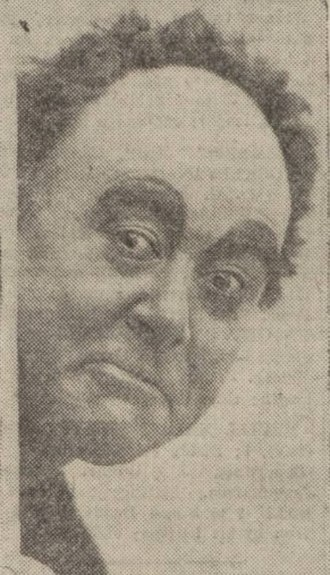 George Robey - Robey's make-up design, featuring thick black eyebrows and partially bald wig