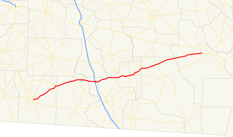 Georgia State Route 122 - Image: Georgia state route 122 map
