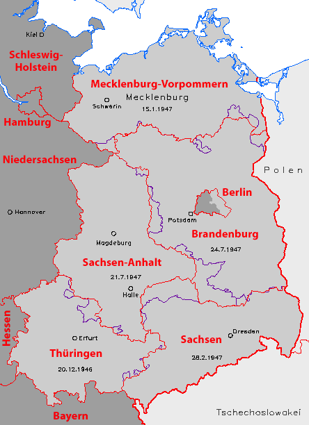 Germany Laender 1947 1990 DDR