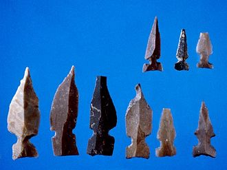 Gesher (archaeological site) - Gesher Pre-Pottery Neolithic A flint arrowheads.