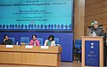Ghulam Nabi Azad addressing at the launch of the National AIDS Control Programme Phase-4 by Department of AIDS Control (DAC), in New Delhi. The Union Minister for Road Transport & Highways and Labour and Employment.jpg