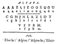 Gilles Vaudelin - Instructions crétiennes mises en ortografe naturelle - 1715 - Alphabet on page 17.png