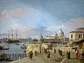 Giovanni Antonio Canal, il Canaletto - Entrance to the Grand Canal - from the West End of the Molo - WGA03913.jpg