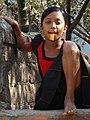 Girl Climbing Wall - Sylhet - Bangladesh (13007841175).jpg