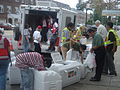 Giving out ice in Astoria 3.JPG