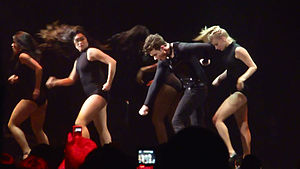 "Glee Live! In Concert! - The Glee Cast perform the ""Single Ladies"" dance as part of the Glee Live tour on June 18, 2011"