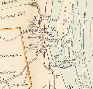 Glenmont, New York - Image: Glenmont NY1891map