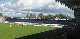 Globe Arena (football stadium) - Bay Radio stand