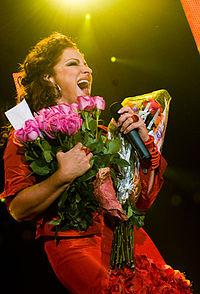 Gloria Estefan en Ahoy, Rotterdam, Holanda (1 Sept. 2008)