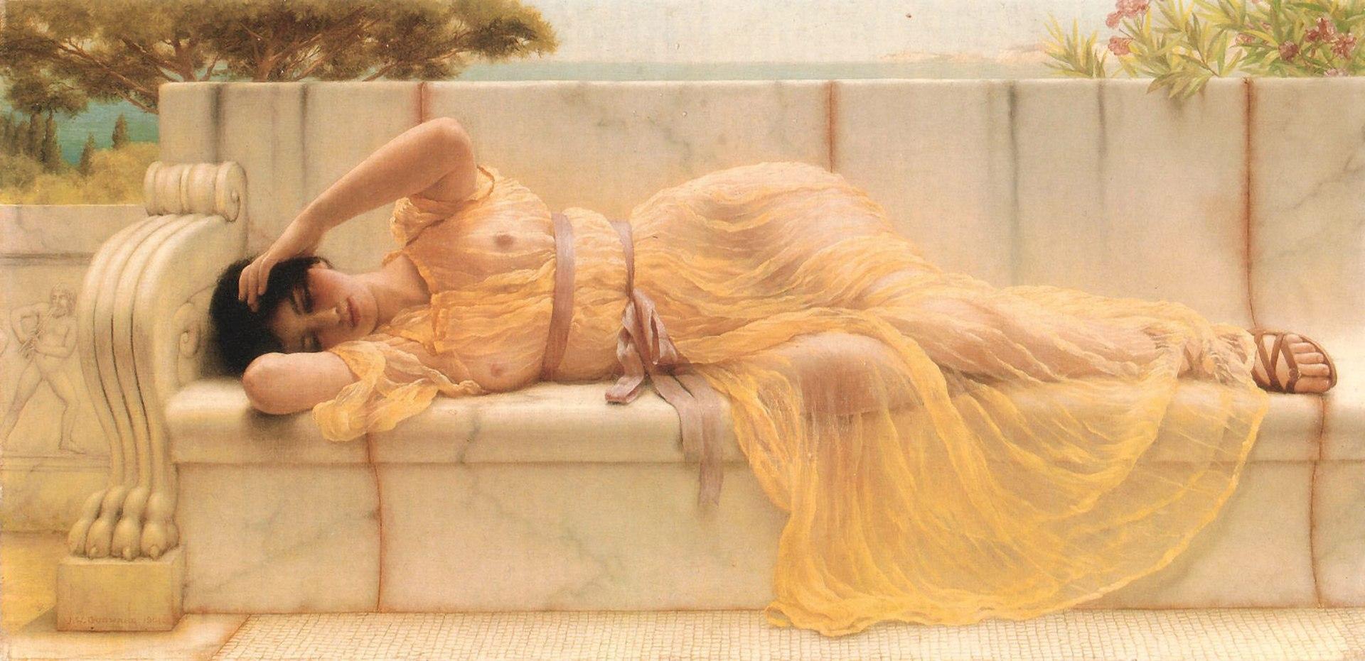 Godward, Girl in a yellow drape, 1901 (5613762793).jpg