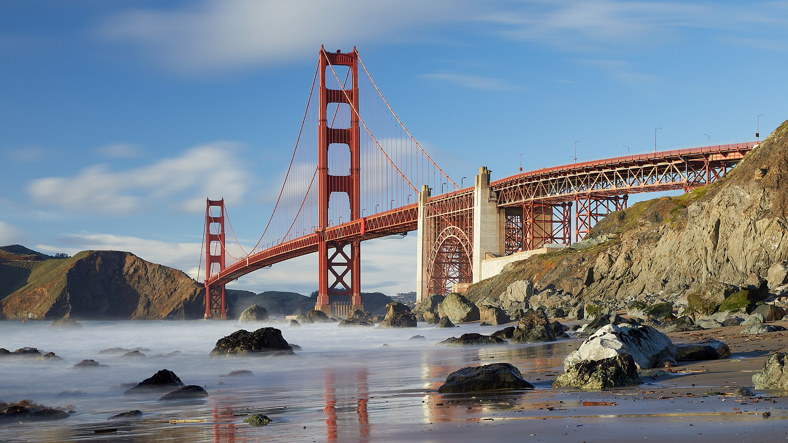 Golden Gate Bridge as seen from Marshall's Beach