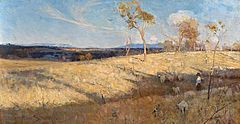 Golden Summer, Eaglemont by Arthur Streeton (1889) is an early example of the rich tradition of Australian landscape painting.