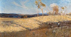 Golden Summer, Eaglemont by Arthur Streeton (1...