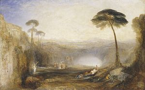 The Golden Bough - J. M. W. Turner's painting of the Golden Bough incident in the Aeneid