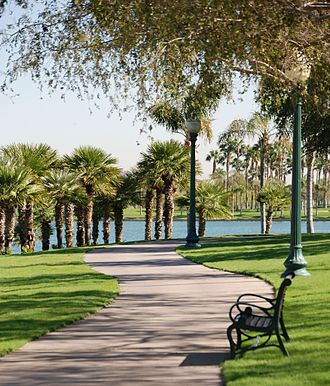 Goodyear, Arizona - South Lake Park in Estrella, on the southern end of Goodyear.