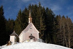 Gosau, Upper Austria. Calvary chapel.