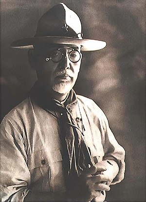 Taiwan under Japanese rule - Gotō Shimpei, Chief of Home Affairs, 1896–1918; in the dress of Chief Scout of the Boy Scouts of Japan, c. 1924