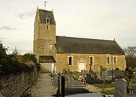 The church in Goupillières