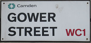 Gower Street, London - Image: Gower Street Sign