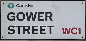 Gower Street, London - Image: Gower Street Sign