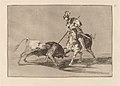 Goya - El Cid Campeador lanceando otro toro (The Cid Campeador Spearing Another Bull).jpg