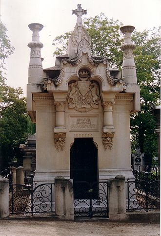 Charles de Morny, Duke of Morny - Tomb at the Père Lachaise Cemetery, Paris