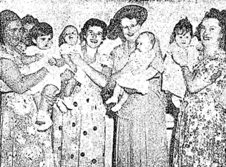 Grace Cuthbert-Browne - Cuthbert-Browne (second adult from the right) opening a baby health centre