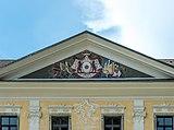 Grafenstein Schloss 1 Schloss Grafenstein Ziergiebel mit Orsini-Rosenberg-Wappen 26072018 6027.jpg