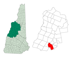 Location in Grafton County, نیوهمپشایر