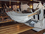 Hammocks rigged below