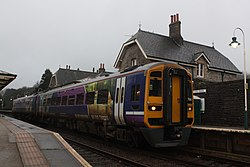 Grange-over-Sands - Arriva 158790 Preston service.JPG