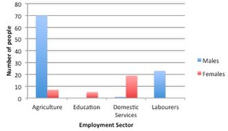 Woodlands, Dorset - Graph showing the occupational structure in Woodlands in 1881